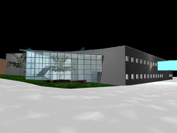 Edificio bloque temático del ACC Canarias en Gando, Telde