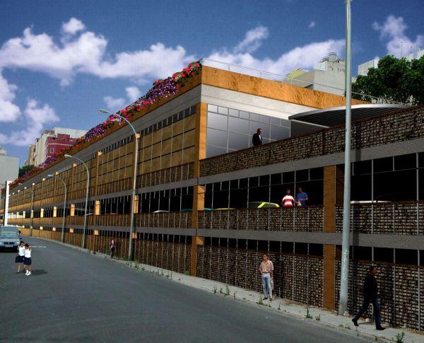 PRIMER PREMIO Aparcamientos, locales y plaza pública en Pedro Infinito, Las Palmas de G.C.