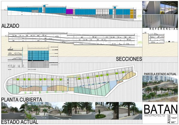 PRIMER PREMIO Aparcamiento y local comercial en El Batán, Las Palmas de G.C.
