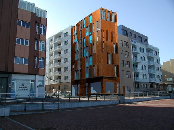 Edificio de viviendas en el Paseo de Las Canteras, Las Palmas de G.C.